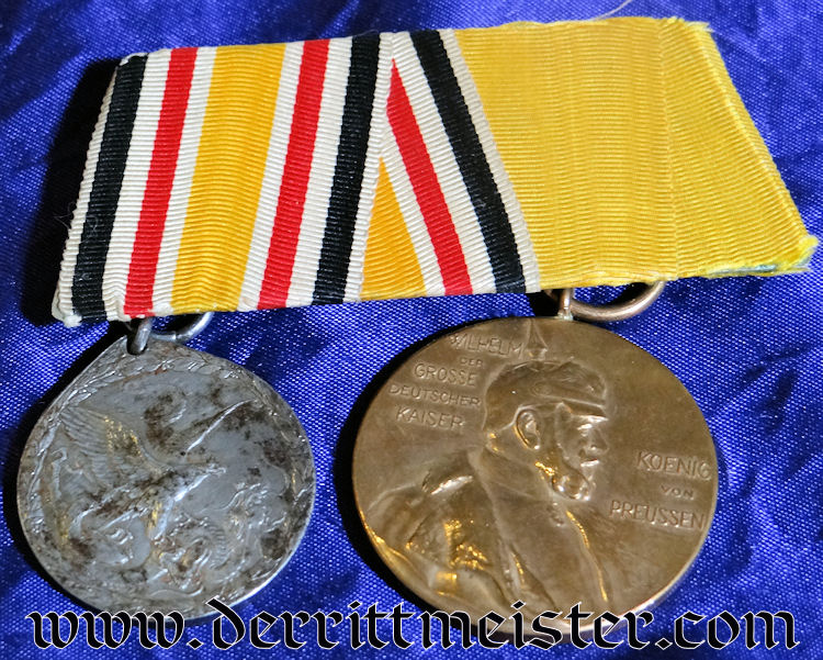 CHINA COLONIAL – MEDAL BAR – TWO PLACE – CHINESE BOXER REBELLION'S NON COMBATANT
