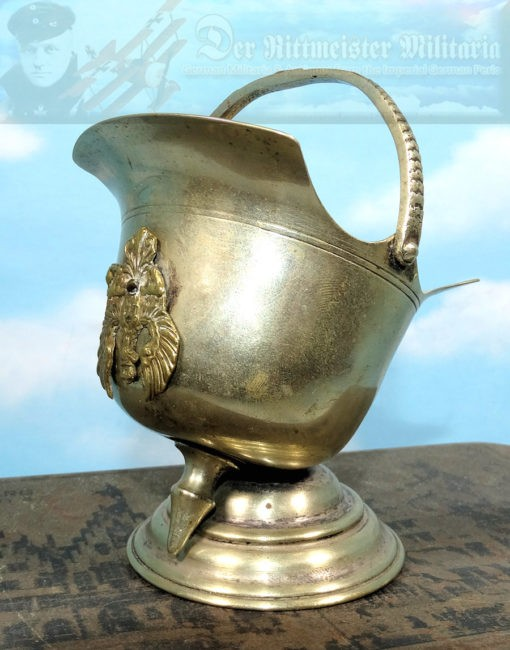 PRUSSIA - DESK PIECE  - MINIATURE PICKELHAUBE - Imperial German Military Antiques Sale