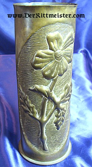 TRENCH ART ARTILLERY SHELL VASE - Imperial German Military Antiques Sale
