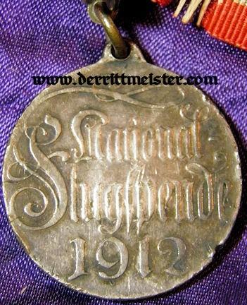 GERMANY - MEDAL - 1912 FLUGSPENDE - Imperial German Military Antiques Sale