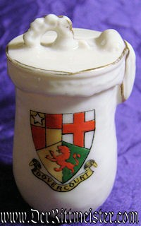 LIDDED PORCELAIN MINI-MUG - Imperial German Military Antiques Sale