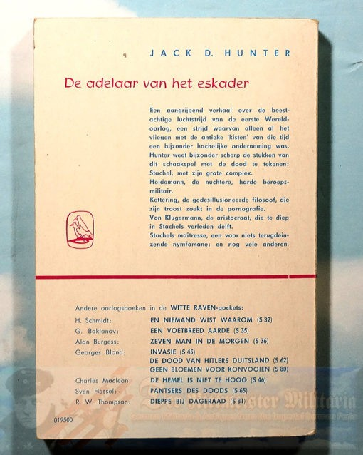 JACK D. HUNTER - BOOK - THE BLUE MAX (DE ADELAAR VAN HET ESKADER) - Imperial German Military Antiques Sale