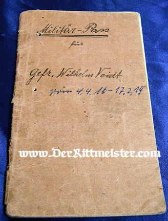 MILITÄRPAß - BAVARIAN SOLDIER/AVIATOR - Imperial German Military Antiques Sale