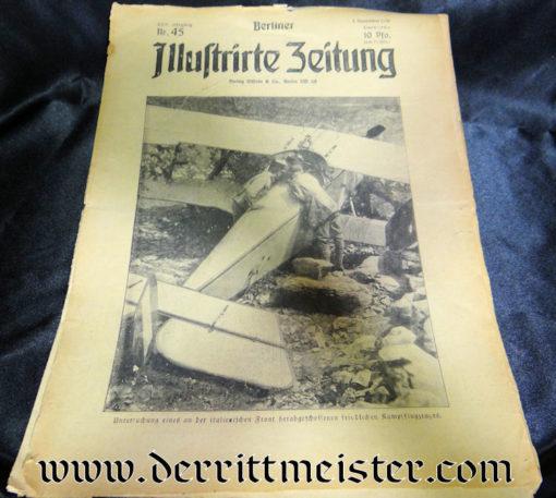 GERMANY - NEWSPAPER - BERLINER ILLUSTRIRTE ZEITUNG - 5 NOVEMBER 1916 - Imperial German Military Antiques Sale