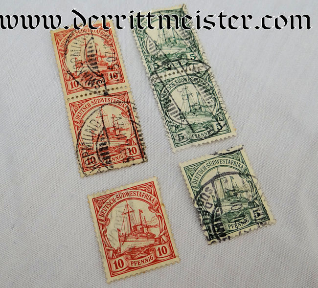 STAMPS – SIX USED – COLONIAL GERMAN SOUTHWEST AFRICA