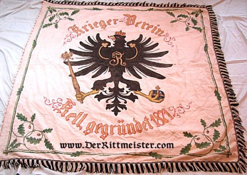 PRUSSIA - FLAG - VETERAN'S ASSOCIATION - Imperial German Military Antiques Sale