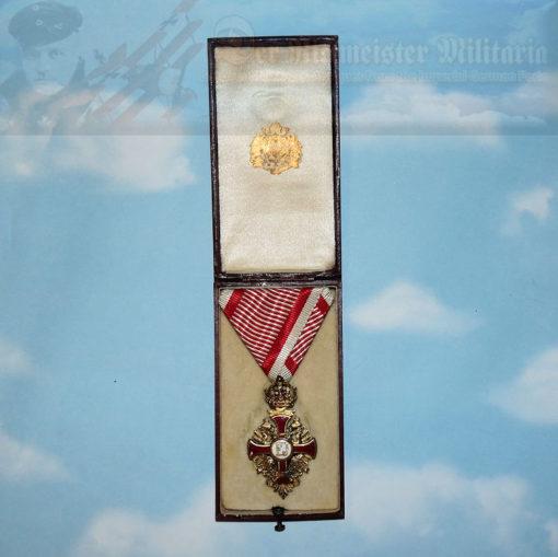 AUSTRIA - KNIGHT'S CROSS - FRANZ JOSEF ORDER - ORIGINAL PRESENTATION CASE
