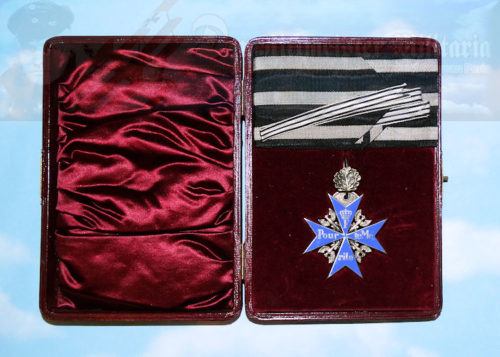 GERMANY - ORDEN POUR le MÉRITE - WITH OAK LEAVES IN ORIGINAL PRESENTATION CASE - JEWELER'S/WEARER'S COPY