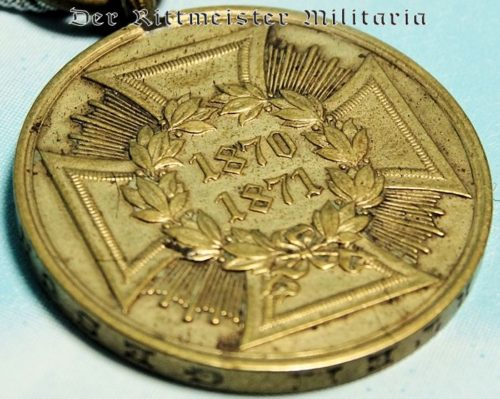 PRUSSIA - 1870-1871 FRANCO-PRUSSIAN WAR COMBATANTS SERVICE MEDAL - Imperial German Military Antiques Sale