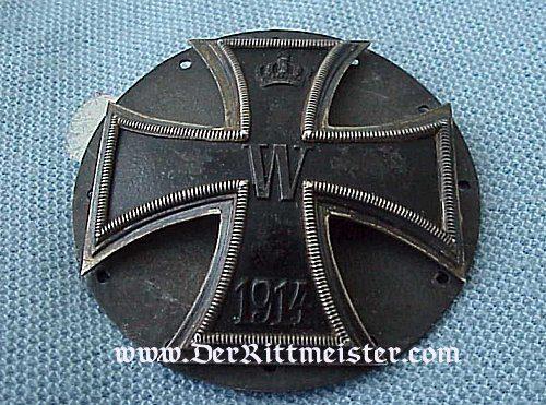 IRON CROSS - 1914 - 1st CLASS - THREE PIECE SCREWBACK FOR KÜRAß - Imperial German Military Antiques Sale