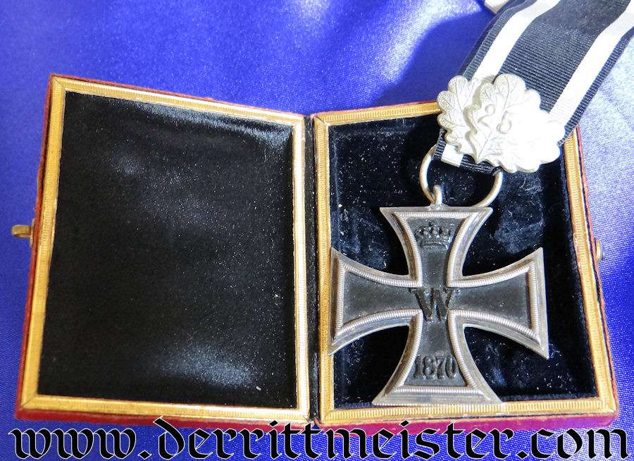 IRON CROSS – 1870 – 2nd CLASS AND 25-YEAR OAK LEAVES WITH RED-EAGLE-STYLE PRESENTATION CASE
