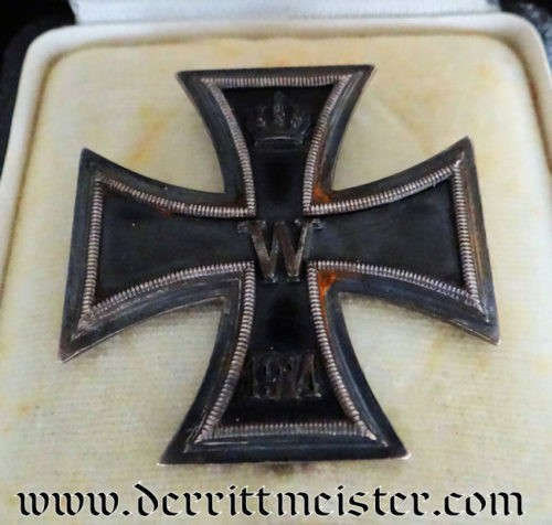 IRON CROSS - 1914 - 1st CLASS - K.A.G. WITH ORIGINAL PRESENTATION CASE - Imperial German Military Antiques Sale