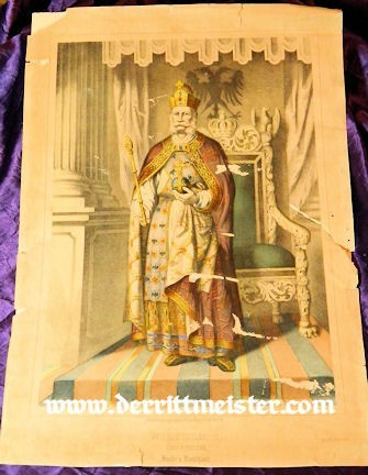 PRUSSIA - LITHOGRAPH OF THE CORONATION OF KAISER WILHELM I - Imperial German Military Antiques Sale