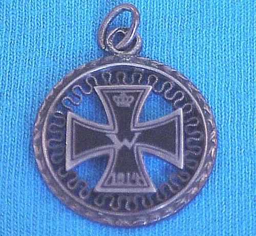 PATRIOTIC PENDANT - IRON CROSS - Imperial German Military Antiques Sale