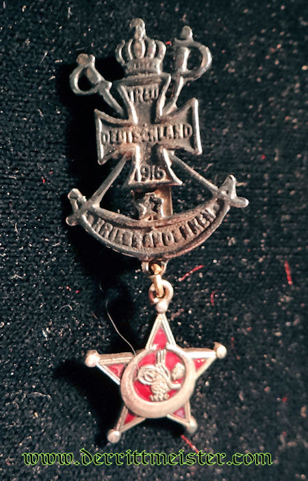 PATRIOTIC TURKISH - GALLIPOLI STAR - MINIATURE - Imperial German Military Antiques Sale
