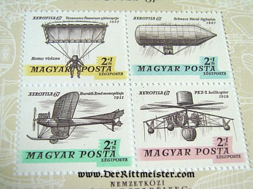 HUNGARY - STAMPS - EXPLORING AVIATION ERAS - SET OF FOUR - Imperial German Military Antiques Sale