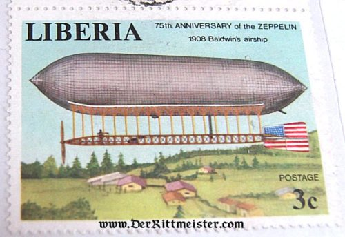 LIBERIA - STAMP - EARLY AIRSHIP - Imperial German Military Antiques Sale