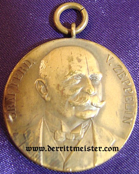 GERMANY - MEDAL - ZEPPELIN - GRAF FERDINAND von ZEPPELIN MEDAL - Imperial German Military Antiques Sale