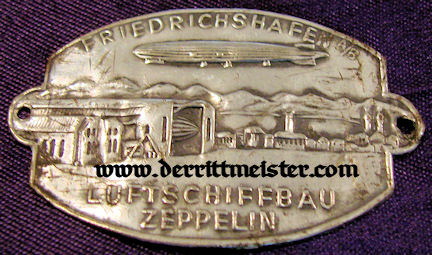 TINNIE - ZEPPELIN - FRIEDRICHSHAFEN - Imperial German Military Antiques Sale