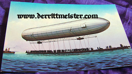 GERMANY - POSTCARD - EARLY ZEPPELIN - LAKE KONSTANZ - FRIEDRICHSHAFEN - Imperial German Military Antiques Sale