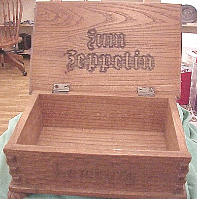 HAMBURG - BOX - ZEPPELIN - WOODEN - Imperial German Military Antiques Sale