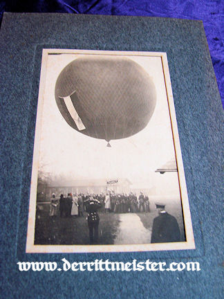 GERMANY - PHOTOGRAPH - BALLOON - PRE WW I - MATTED - Imperial German Military Antiques Sale