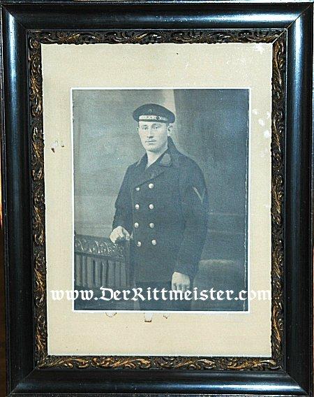LARGE FRAMED PORTRAIT OF SAILOR - Imperial German Military Antiques Sale