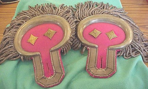 PRUSSIA - EPAULETTES - OBERST - GARDE-ULANEN-REGIMENT Nr 2 - Imperial German Military Antiques Sale