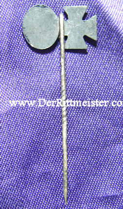 GERMANY - STICKPIN - 1939 IRON CROSS 2nd CLASS - BLACK ARMY WOUND BADGE - Imperial German Military Antiques Sale