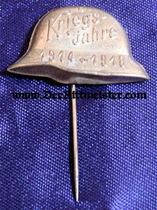 STAHLHELM STICK PIN - Imperial German Military Antiques Sale