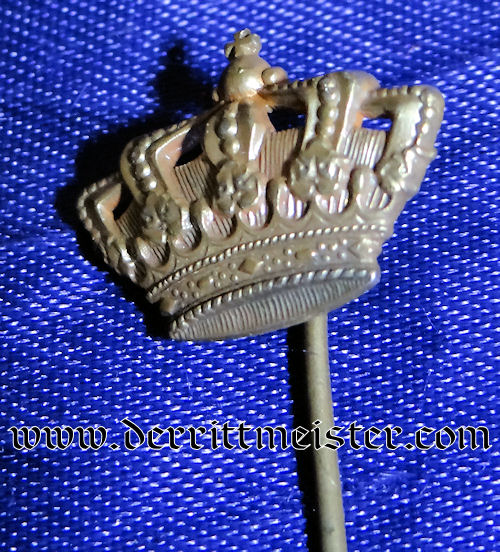 BAVARIA - STICKPIN - FEATURING CROWN - Imperial German Military Antiques Sale