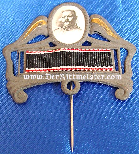 STICKPIN SALUTING GENERALFELDMARSCHALL PAUL von HINDENBURG - Imperial German Military Antiques Sale