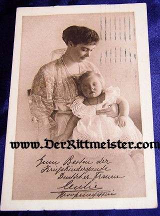 POSTCARD - KRONPRINZESSIN CECILIE - ONE CHILD - Imperial German Military Antiques Sale