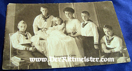 POSTCARD - KRONPRINZESSIN CECILIE - SIX CHILDREN - Imperial German Military Antiques Sale