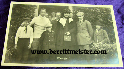 POST WW I POSTCARD - KRONPRINZ WILHELM - FAMILY - Imperial German Military Antiques Sale