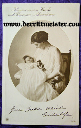 POSTCARD - KRONPRINZESSIN CECILIE - PRINZESSIN ALEXANDRINE - Imperial German Military Antiques Sale