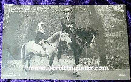POSTCARD - KRONPRINZ WILHELM - SON PRINZ WILHELM - Imperial German Military Antiques Sale