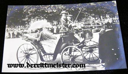 POSTCARD - CROWN PRINCESS CECILIE - CARRIAGE - Imperial German Military Antiques Sale