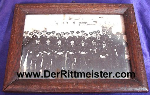 FRAMED REICHSMARINE PHOTOGRAPH - Imperial German Military Antiques Sale