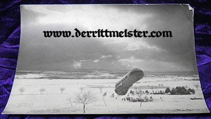 LARGE-FORMAT ORIGINAL PHOTOGRAPH -OBSERVATION BALLOON - Imperial German Military Antiques Sale