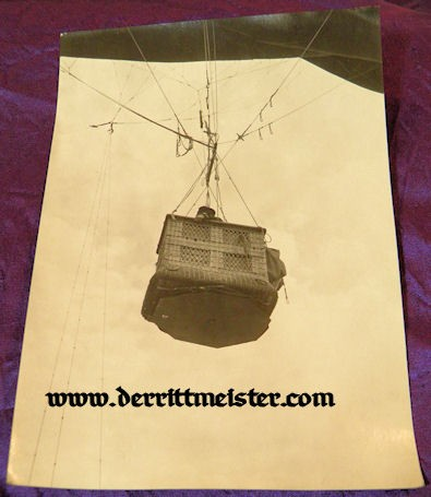 LARGE-FORMAT PHOTOGRAPH - BASKET - OBSERVATION BALLOON - Imperial German Military Antiques Sale
