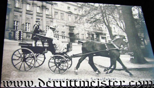CROWN PRINCESS CECILIE IN CARRIAGE - Imperial German Military Antiques Sale