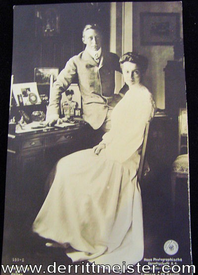 POSTCARD - CROWN PRINCE AND CROWN PRINCESS - Imperial German Military Antiques Sale