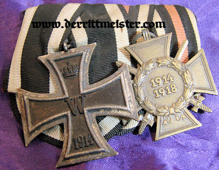 GERMANY - MEDAL BAR - TWO PLACE - Imperial German Military Antiques Sale