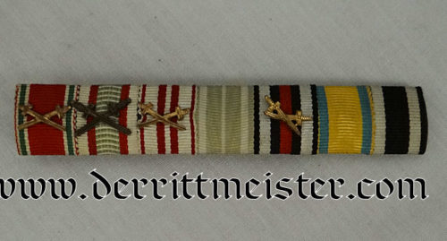 GERMANY - RIBBON BAR - SEVEN PLACE - Imperial German Military Antiques Sale