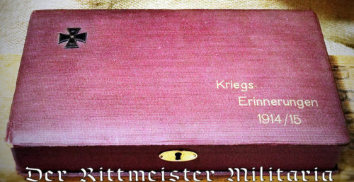 "PATRIOTIC BOX - ""Kriegs - Erinnerungen 1914/15"" - Imperial German Military Antiques Sale"