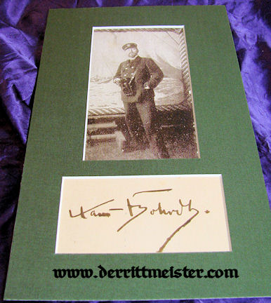 PHOTOGRAPH & AUTOGRAPH OF NOTED GERMAN NAVAL ARTIST HANS BOHRDT - Imperial German Military Antiques Sale