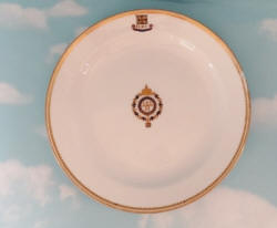 SALAD/DESSERT PLATE FROM KAISER WILHELM II'S PERSONAL S. M. Y. HOHENZOLLERN TABLE SERVICE - Imperial German Military Antiques Sale