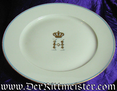 DINNER PLATE – PRINZ HEINRICH OF PRUSSIA'S PERSONAL SERVICE