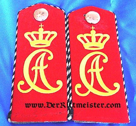 SAXE-WEIMAR - SHOULDER STRAPS - ONE-YEAR-VOLUNTEER - INFANTERIE-REGIMENT Nr 94 - Imperial German Military Antiques Sale